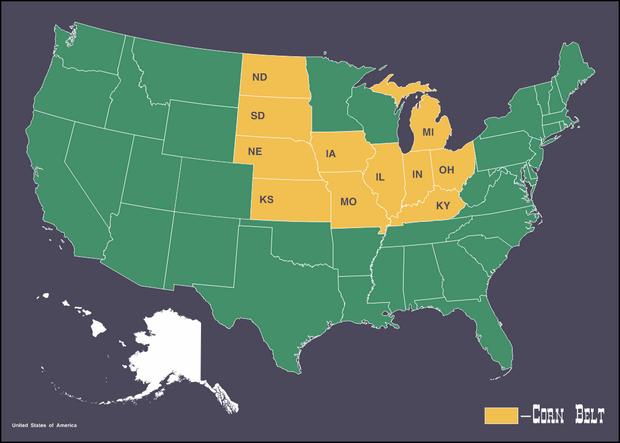Кукурузный пояс США