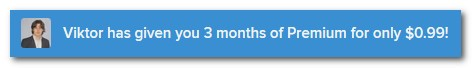 3 месяца за $0.99