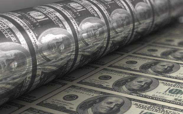 Стальная пластина для печати долларов